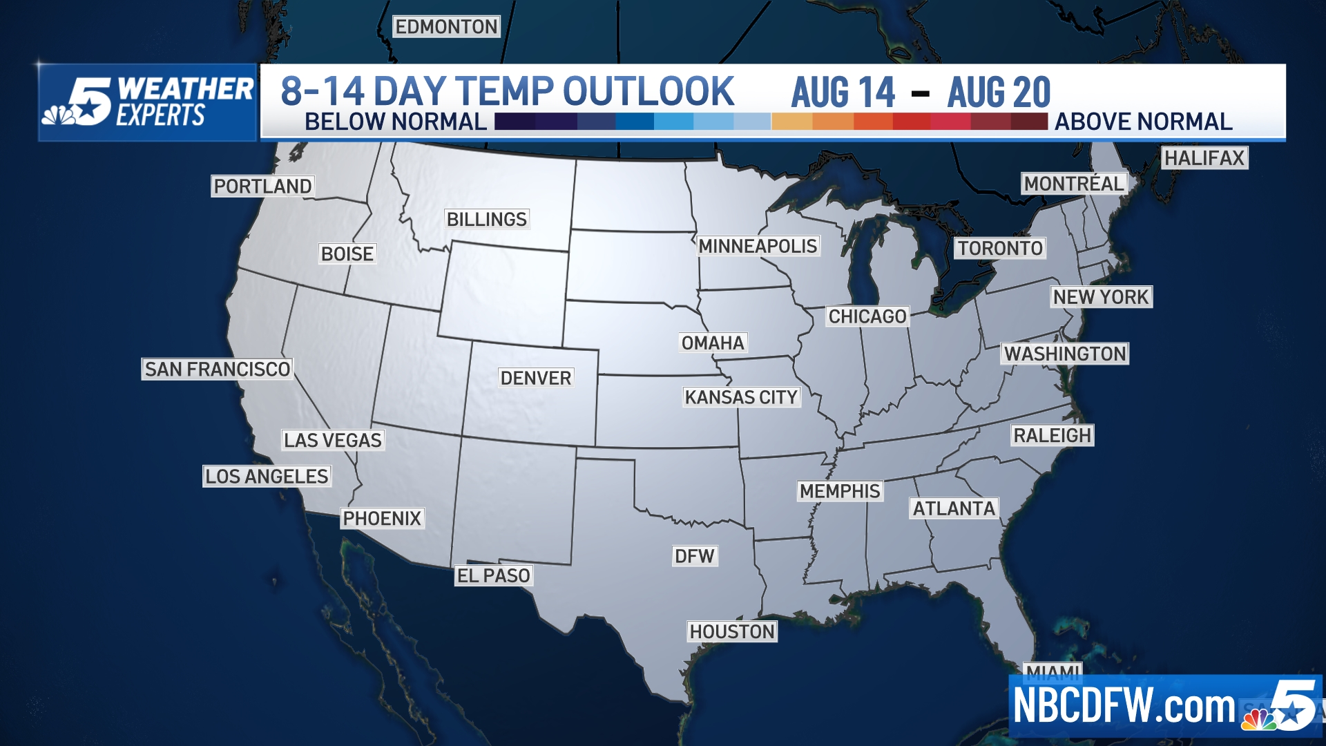 8 to 14 Day Outlook - Temperature